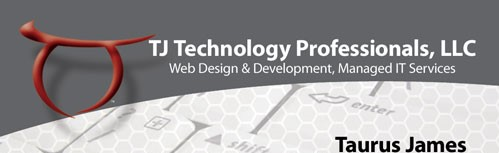 image showing TJTechPros business card