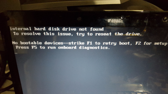 image for 5 Minute Fix Internal hard disk drive not found